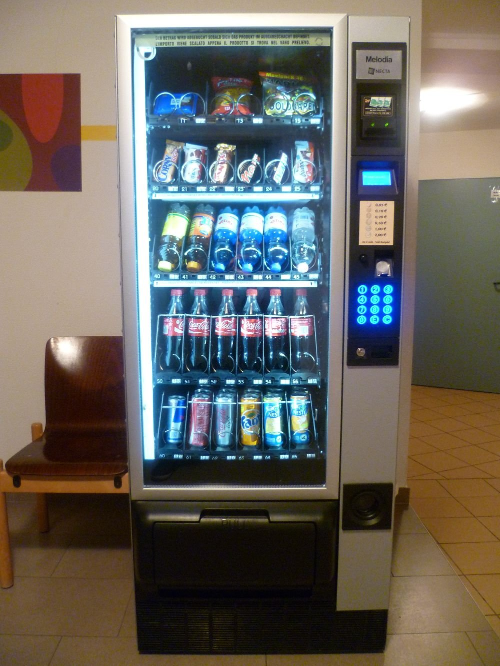 Vending machines for snacks
