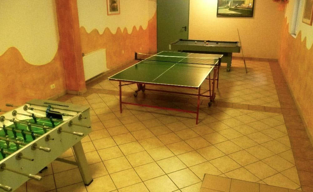 Table tennis, billiards and table football